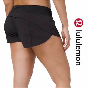 "Lululemon Black Speed Up Shorts 2.5"" LYCRA"